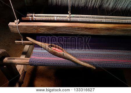 Thai Silk. wooden weaving shuttle for homemade silk or textile production