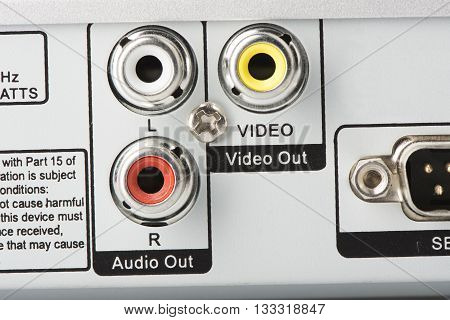 Audio Video Input jacks or ports on the back of a television or any electronic component.
