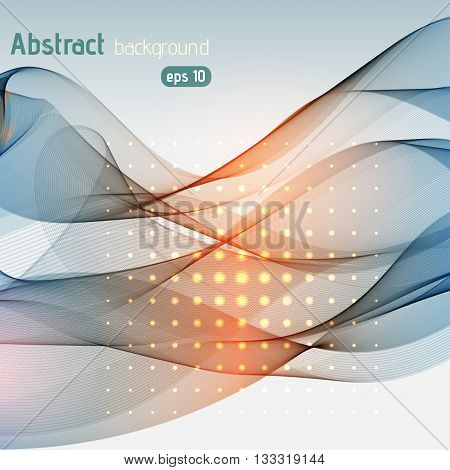 Abstract Lines On Light Background. Vector Illustration. Technology Background With Stripes. Gray, O