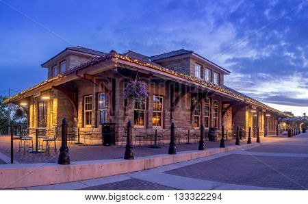 CALGARY, CANADA - June 3: Old train station at Calgary's living museum