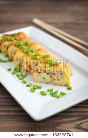 Japanese Rolled Omelette