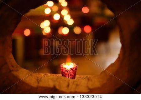 candle frame bokeh romance de focus light background.