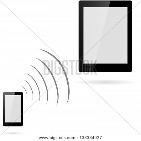 cordless phone with data transfer to a plate
