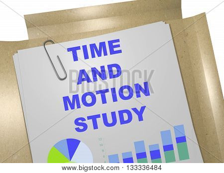 Time And Motion Study Business Concept
