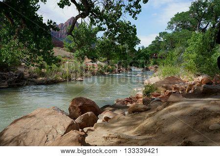Virgin River in Zion National Park, Utah, US