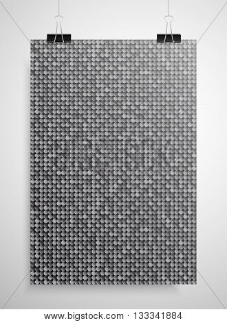 Abstract background. A poster on the wall at the terminals of the paper. Silver sequin background. EPS 10.