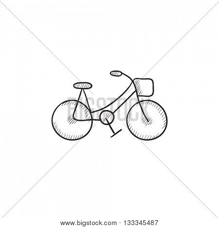 Bicycle vector sketch icon isolated on background. Hand drawn Bicycle icon. Bicycle sketch icon for infographic, website or app.