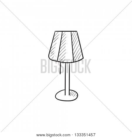 Stand lamp vector sketch icon isolated on background. Hand drawn Stand lamp icon. Stand lamp sketch icon for infographic, website or app.