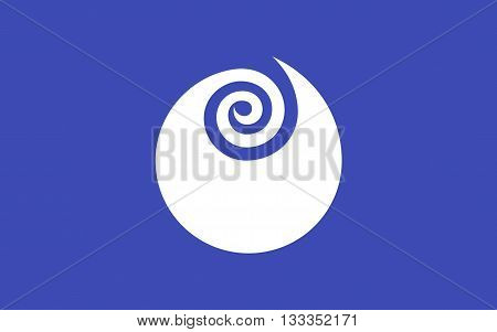 Flag of Ibaraki Prefecture is a prefecture of Japan located in the Kanto region on the main island of Honshu. The capital is Mito 3D rendering