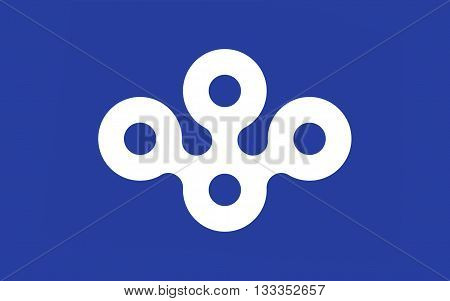 Flag of Osaka Prefecture is a prefecture located in the Kansai region on Honshu the main island of Japan. 3D rendering