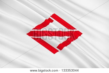 Flag of Yokohama officially the City of Yokohama is the largest city in Japan by population and most populous municipality of Japan 3D rendering