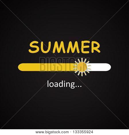 Summer loading bar seasonal inscription template background