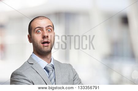 Surprised businessman portrait