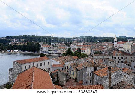 Overview Of Porec City In Croatia