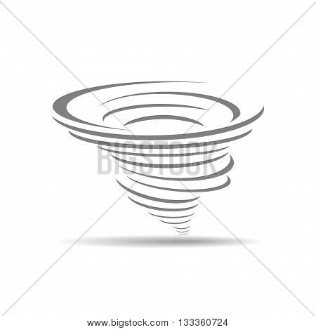 vector of cyclone icon on white background