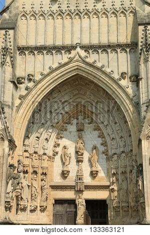 abbey Church holy Saulve of Montreuil on sea, NORD PAS DE CALAIS, NORTH OF FRANCE