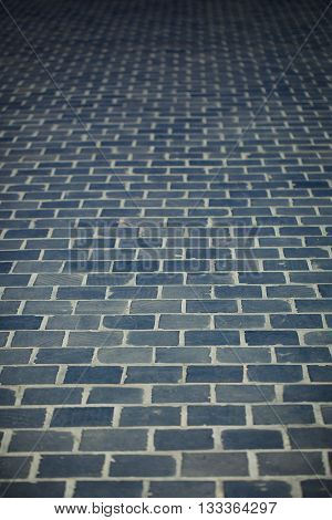 Close up of the background of brick footpath background
