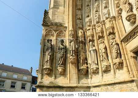 Church holy Saulve of Montreuil on sea, NORD PAS DE CALAIS, NORTH OF FRANCE
