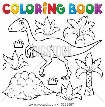 Coloring book dinosaur topic 4 - eps10 vector illustration.