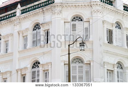 Old building, Beautiful white facade of the old building