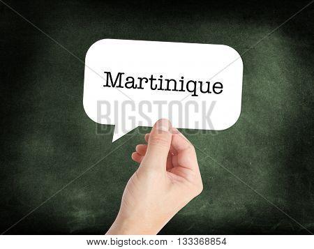Martinique written on a speechbubble