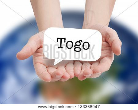 Togo written on a speechbubble