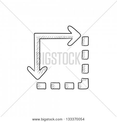 Content extension vector sketch icon isolated on background. Hand drawn Content extension icon. Content extension sketch icon for infographic, website or app.