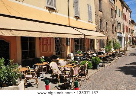 La Garde Freinet France - april 16 2016 : the picturesque village in spring