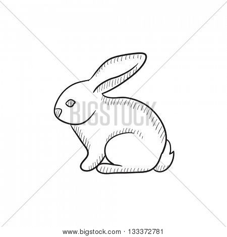 Rabbit vector sketch icon isolated on background. Hand drawn Rabbit icon. Rabbit sketch icon for infographic, website or app.