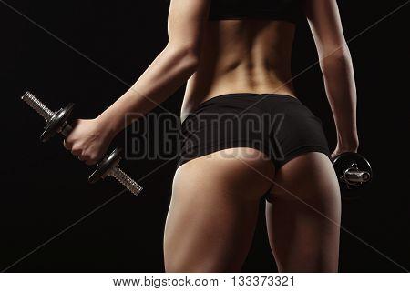 Sexy Fitness Ass Close-up