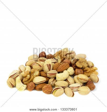 Nuts mix isolated on a white background