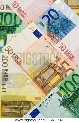 Euro Currency Collage