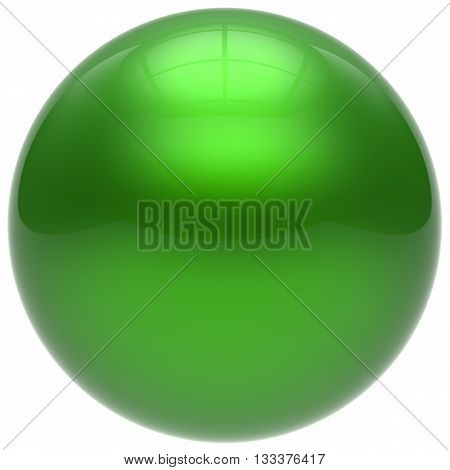 Sphere green round ball geometric shape basic circle solid figure simple minimalistic button element single drop cyan shiny glossy sparkling object blank balloon atom icon. 3d render isolated