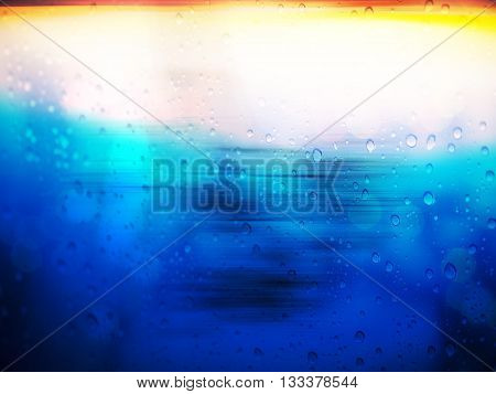 Abstract rain drop background on glass window