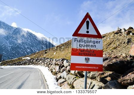 Timmelsjoch Pass in South Tyrol (Austria)