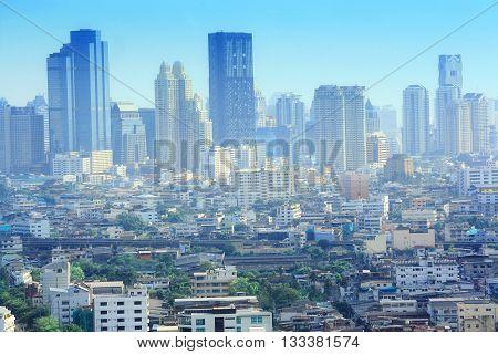 Bangkok central business district , Bangkok skyline
