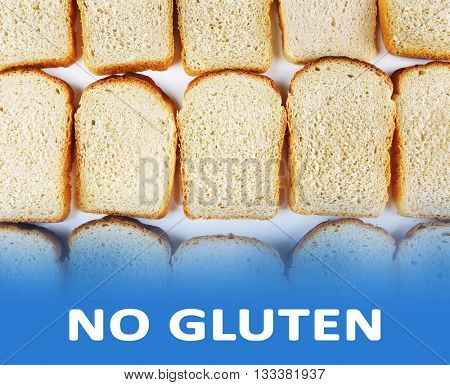 Sliced bread and text No Gluten