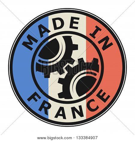 Rubber stamp made in France, vector illustration