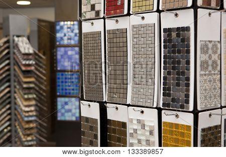 Ceramic mosaic. Ceramic mosaic in hardware store