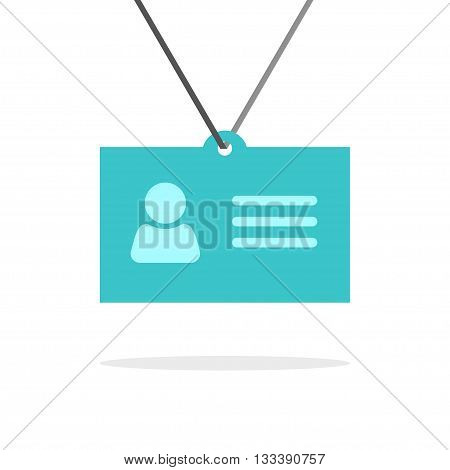 Name tag badge icon isolated on white, identification pass card