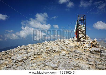 Amazing panorama from Vihren peak, Pirin Mountain, Bulgaria