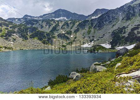 Amazing panorama of Banderishki Chukar Peak and The Fish Lake, Pirin Mountain, Bulgaria