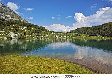 Amazing landscape of Muratovo lake, Pirin Mountain, Bulgaria
