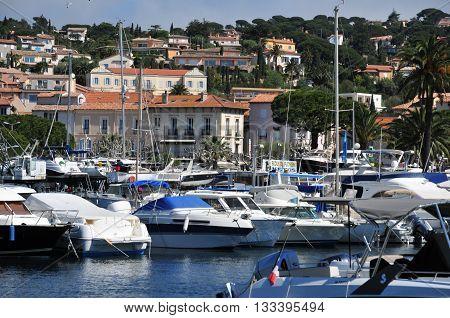 Sainte Maxime France - april 16 2016 : marina