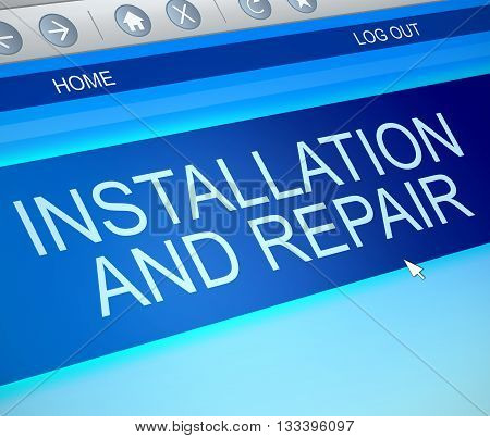 Installation And Repair Concept.