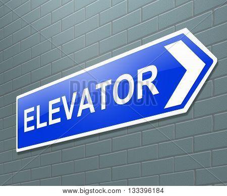 Elevator Sign Concept.