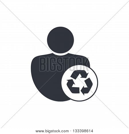 Recycle Icon In Vector Format. Premium Quality Recycle Symbol. Web Graphic Recycle Sign On White Bac
