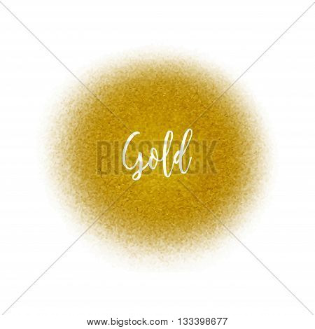 Golden spray dot particles. Golden Airbrush splatter.
