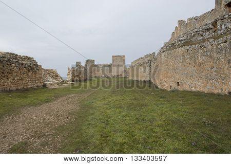 Inside Castle Gormaz in Soria, Castilla leon, Spain