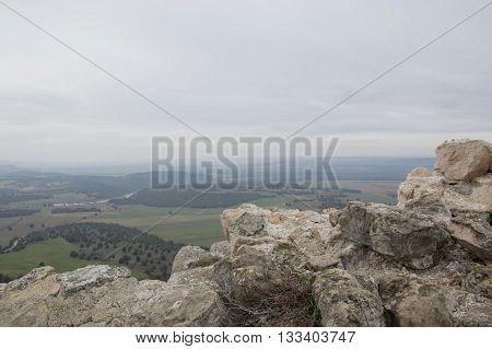 Landscape in Gormaz in Soria, Castilla leon, Spain